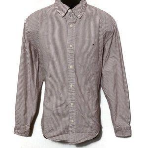 Tommy Hilfiger Men's Pattern Button Down Shirt